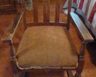 Rocker, Vintage Upholstered seat