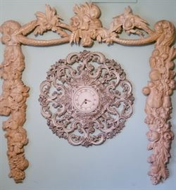 Clock and Carved surround