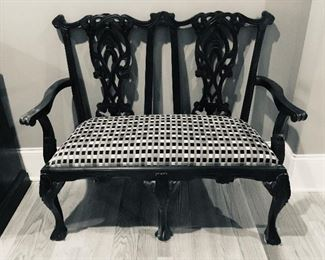 Antique oriental two seater