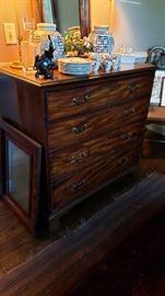 Antique tiger oak server