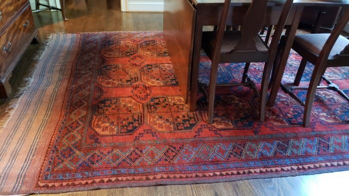 Antique hand woven rug