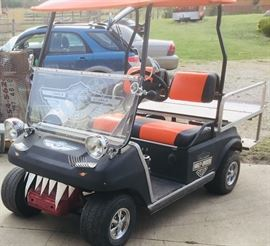Tricked Out Harley Davidson Golf Cart