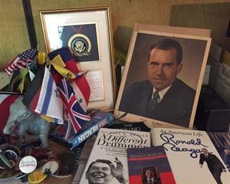 Large Selection of Republican Political Memorabilia.
