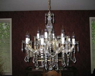 Murano Crystal Chandelier from Italy