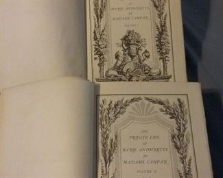 1st Edition, The Private Life of Marie Antoinette Volume I and II