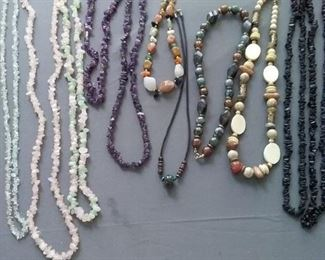Assortment of Necklaces of Various Stones