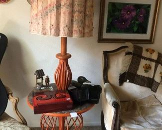 Mid Century Lamp Table