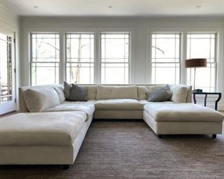 Mitchell Gold & Bob Williams Suede Sectional