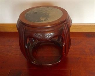 Antique Chinese Barrel End Table/Stool