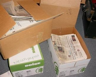 BOXES and BOXES of old newspapers and magazines