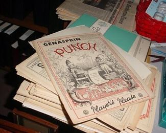 LARGE collection of old 1920's PUNCH magazines from England