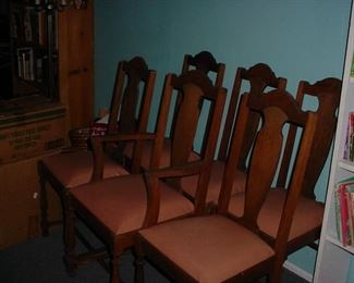 6 chairs to go with table next picture