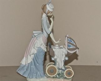 Lladro Figurine - Walking the Baby