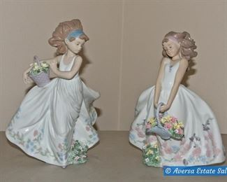 Lladro Flower Girls