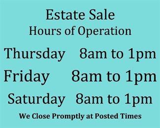 Sale Hours