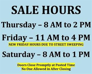 sale hours revised