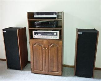 Entertainment Electronics Technics Turntable, Kenwood Receiver, Fortura Speakers