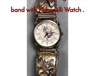 1Lot 179E Sterling Eagle Watch band with Kokopelli Watch .
