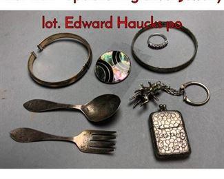 1Lot 179F 8pc Sterling Silver Jewelry lot. Edward Haucks po