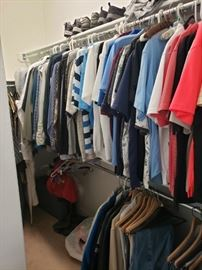 Lots of men's and women's clothes