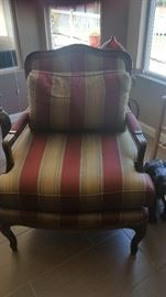 We have a Pair of these striped occasional chairs