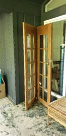 wooden/glass door