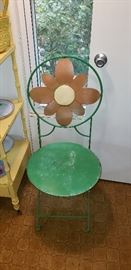 Daisy metal chair (yes it folds)