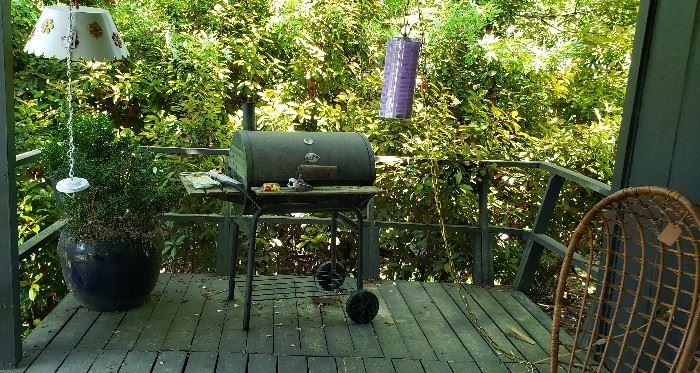 Char-grill, hanging mid century lights