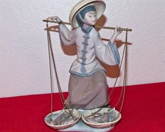 Lladro Fish Seller