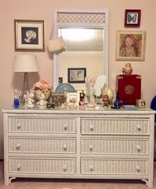 Girls Room with Wicker Furnishings