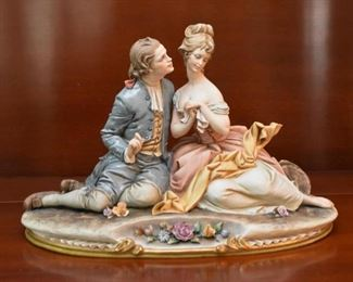 Antique German Porcelain Figurine (Highly Detailed)