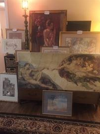 Art, pictures, frames