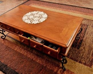 COFFEE TABLE WITH DRAWERS FOR SALE.
