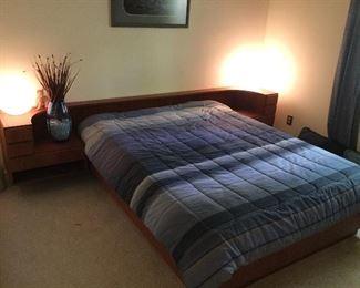 Danish Modern Teak Queen Size Bed