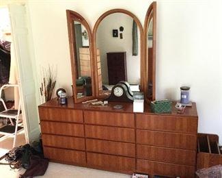 KOMFORT Danish Modern Dresser and Mirror