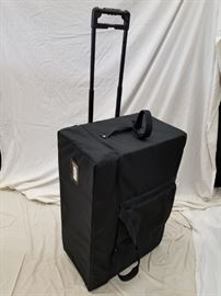 """Rolling hard case. Foam Interior. Approximate dimensions are 33.5"""" W X 13"""" D X 21.5"""" H.  Great for transport and shipping of tools, firearms, instruments, or anything that needs to be protected. Add or remove foam inserts to customize for yourself."""