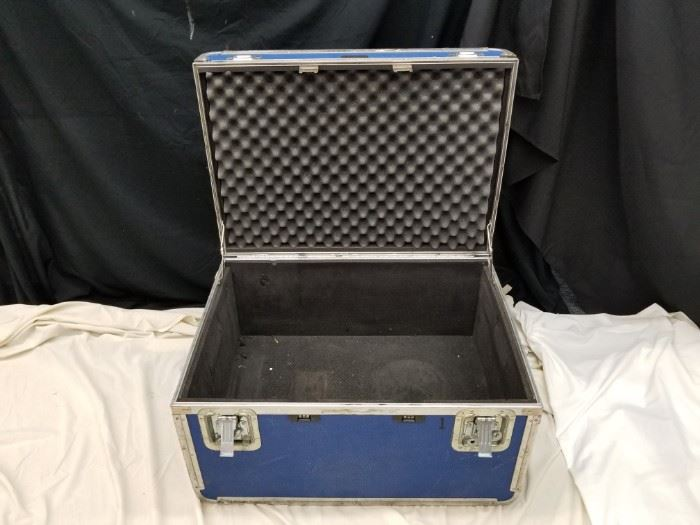 """Platt """"The Gaurdsman"""" rolling carrying hard-case. Rugged. Approximate dimensions are 28"""" W X 20"""" D X 17"""" H. Great for transport and shipping of tools, firearms, instruments, or anything that needs to be protected. Add or remove foam inserts to customize for yourself. See additional cases offered in Lots 21 and 62."""