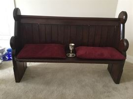 Antique House of Worship Bench and Chalice