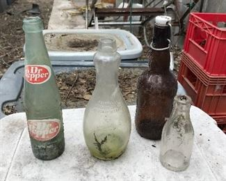 Miscellaneous bottles and jars