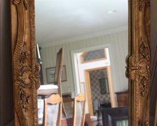 Carved giltwood vintage mirror