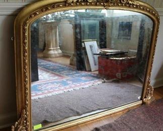 Vintage giltwood carved mirror