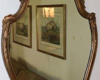 Vintage carved giltwood mirror