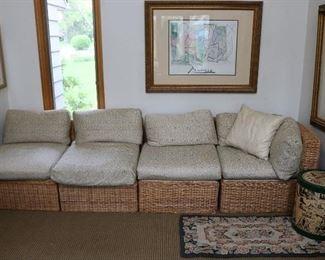 Walters Wicker sofa