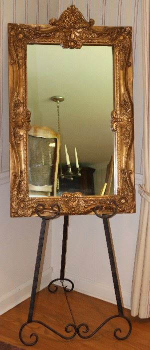 Ornate giltwood carved mirror