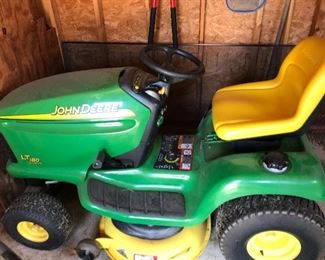 John Deere riding mower. Has not been used for 2 years, however has been serviced by JD every year. Excellent shape! 267 hours