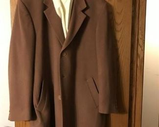 Men's Cashmere coat and scarf