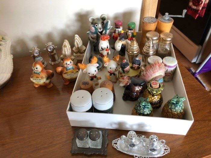 Vintage salt and pepper collection