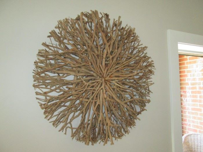 Driftwood wreath.