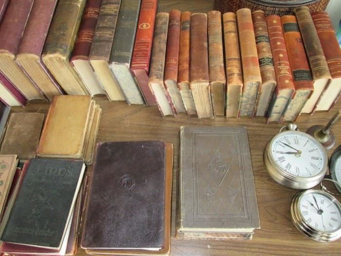 Antique leather bound books for your vintage decor.