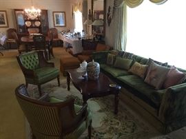 Incredible living/dining room full of furniture